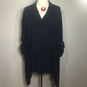 LANE BRYANT Midnight Blue Tunic Size 26 / 28